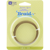 Antique Brass 14 Gauge 5' - Artistic Wire Braid