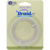 Silver Plated 14 Gauge 5' - Artistic Wire Braid