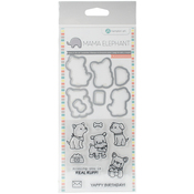 "Puppy Play - Mama Elephant Stamp & Die Set 4""X8"""