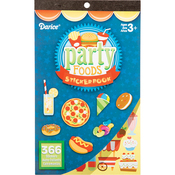 "Party Foods 366/Pkg - Sticker Book 9.5""X6"""