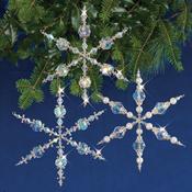 Vintage Angels & Snowflakes Makes 3 - Holiday Beaded Ornament Kit