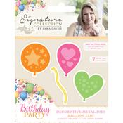 Balloon Trio - Sara Davies Signature Birthday Party Metal Dies
