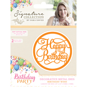Birthday Wish - Sara Davies Signature Birthday Party Metal Dies