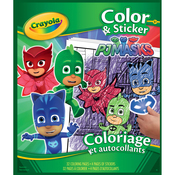 "PJ Masks - Crayola Color 'n Sticker Book 10""X8.5"""