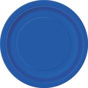 "Royal Blue - Round Dinner Plates 8-5/8"" 8/Pkg"