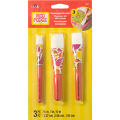 Mod Podge Short Handle Brush Set 3/Pkg