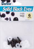 Black - Shank Back Solid Eyes 6mm 10/Pkg