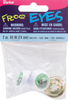Green - Shank Back Frog Eyes 24mm 2/Pkg DARICE-Frog Eyes. Perfect for use on handmade puppets and stuffed toys! This package contains two 24mm plastic frog eyes with washers. Imported.