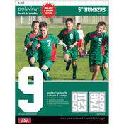 """White - Sport Letter Polyvinyl Transfers 5"""" Team Pack 2 Sheets/Pkg"""