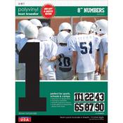 """Black - Sport Letter Polyvinyl Transfers 8"""" Team Pack 6 Sheets/Pkg"""