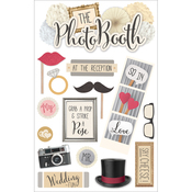 """Photo Booth - Paper House 3D Stickers 4.5""""X7"""""""