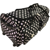 Black With White Polka Dots - CGull Rolling Craft Machine & Supply Bag 2.0