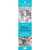 Alice In Wonderland - Coloring Bookmarks 5/Pkg