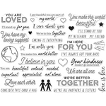 """You Are Loved - Hero Arts Clear Stamps 4""""X6"""""""