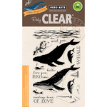 """Color Layering Blue Whale - Hero Arts Clear Stamps 4""""X6"""""""