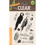 "Color Layering Parrot - Hero Arts Clear Stamps 4""X6"""