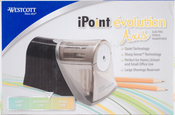 Black, Moderate Use - Westcott iPoint Evolution Axis Electric Pencil Sharpener