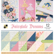 """Fairytale, 12 W/Glitter - DCWV Paper Stack Double-Sided 12""""X12"""" 36/Pkg"""