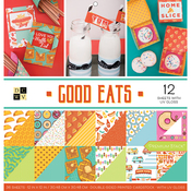 """Good Eats, 12 With UV Gloss - DCWV Paper Stack Double-Sided 12""""X12"""" 36/Pkg"""