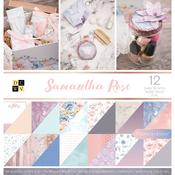 "Samantha Rose, 12 W/Rose Gold Foil - DCWV Paper Stack Double-Sided 12""X12"" 36/Pkg"