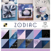 "Zodiac, 12 W/Holographic Foil - DCWV Paper Stack Double-Sided 12""X12"" 36/Pkg"