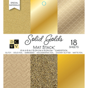 "Golds W/Specialty Finishes - DCWV Cardstock Stack 6""X6"" 18/Pkg"