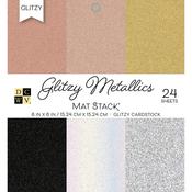 """Metallics W/Glitzy Glitter - DCWV Cardstock Stack 6""""X6"""" 24/Pkg"""