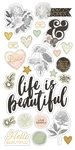 Beautiful Chipboard Stickers - Simple Stories