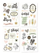 Beautiful 4 x 6 Sticker Sheets - Simple Stories