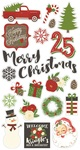 Very Merry Chipboard Stickers - Simple Stories