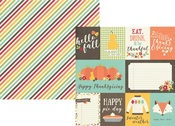 3 x 4 & 4 x 6 Journaling Card Paper - Happy Harvest - Simple Stories
