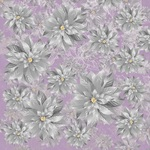 Silver Poinsettia Foil Paper - Christmas Jewel - KaiserCraft - PRE ORDER