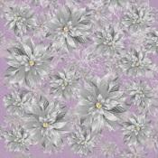 Silver Poinsettia Foil Paper - Christmas Jewel - KaiserCraft