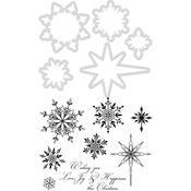Snowflakes & Stars Dies & Stamps - KaiserCraft