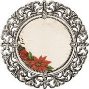 Poinsettia Frame Die Cut Paper - Letters To Santa - KaiserCraft