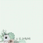 Flannelette Paper - Mint Wishes - KaiserCraft