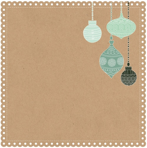 Gingerbread Cookie Die-cut Paper - Mint Wishes - KaiserCraft - PRE ORDER