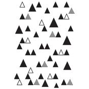 Triangle Trees Embossing Folder - KaiserCraft