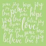 Love & Peace Template - KaiserCraft