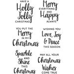 Jolly Sentiments Clear Stamps - KaiserCraft