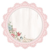 Lace Frame Die Cut Paper - Rose Avenue - KaiserCraft