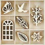 Secret Garden Wooden Flourishes - KaiserCraft