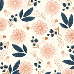 Flowers Foiled Paper - Blush - My Minds Eye - PRE ORDER
