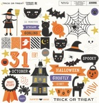 Trick Or Treat Chipboard Stickers - My Minds Eye - PRE ORDER