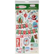 A Very Merry Christmas Chipboard Stickers - Carta Bella