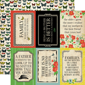 4X6 Journaling Cards Paper - Our Family - Carta Bella