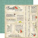 Family Memories Paper - Our Family - Carta Bella - PRE ORDER