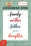 Family Titles Word Die Set - Our Family - Carta Bella - PRE ORDER