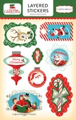 A Very Merry Christmas Layered Stickers - Carta Bella
