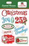 A Very Merry Christmas Enamel Phrases - Carta Bella - PRE ORDER